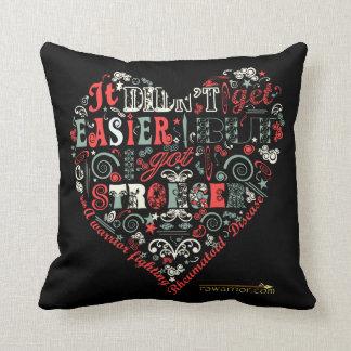 I got stronger - Heart Cushion