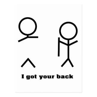 I got your back post card
