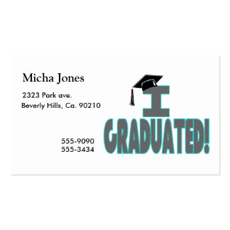 I Graduated With Black Cap Double-Sided Standard Business Cards (Pack Of 100)