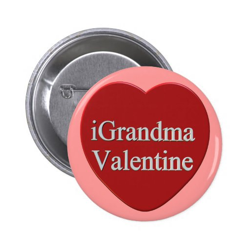 I Grandma Valentines Day T-shirts and Gifts Pinback Buttons