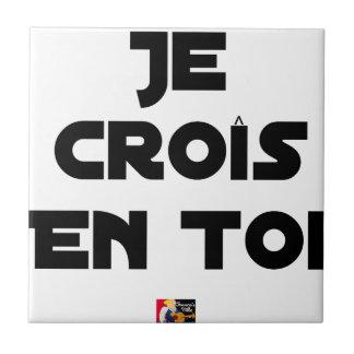 I grow in You - Word games - François Ville Ceramic Tile