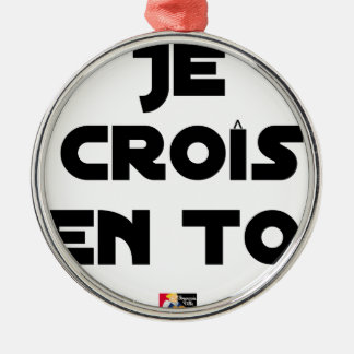 I grow in You - Word games - François Ville Metal Ornament