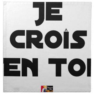 I grow in You - Word games - François Ville Napkin