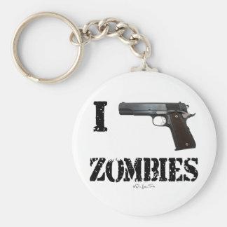 I Gun Zombies 2 Basic Round Button Key Ring