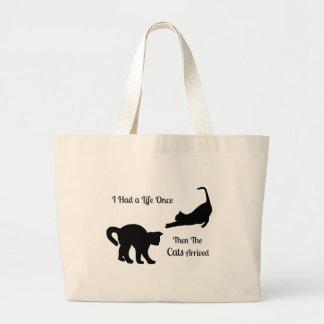 I Had A Life Once Cat Jumbo Tote Bags Jumbo Tote Bag