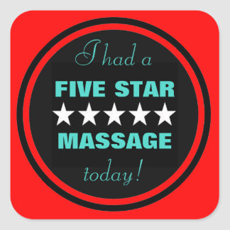 I had a massage today! stickers