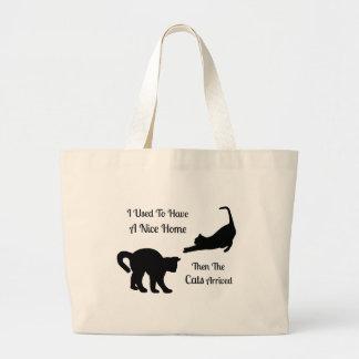 I Had A Nice Home Cat Jumbo Tote Bags Jumbo Tote Bag