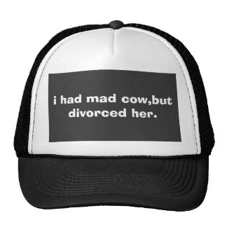 i had mad cow,but divorced her. cap