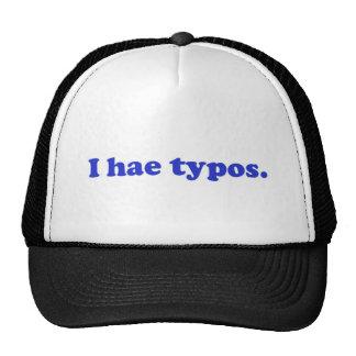 I hae typos - blue trucker hat