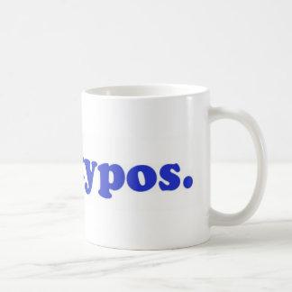I hae typos - blue coffee mug
