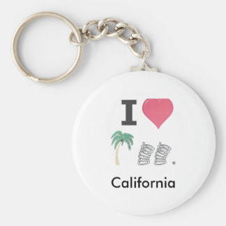 I Hart Palm Springs Basic Round Button Key Ring