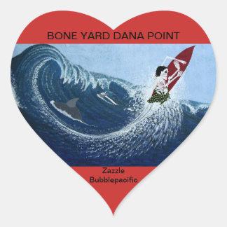 I hart the bone yard heart sticker