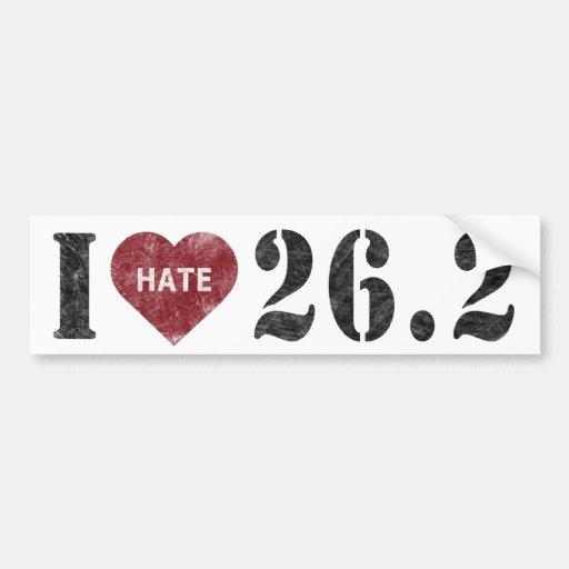 I hate 26.2 marathon bumper sticker