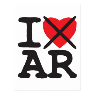 I Hate AR - Arkansas Postcard