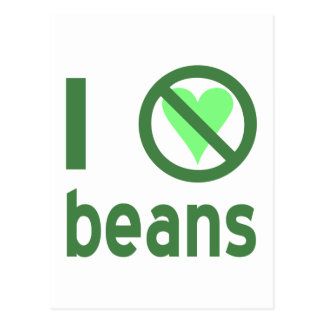 I Hate Beans Postcards