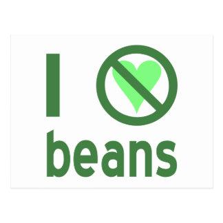 I Hate Beans Postcard