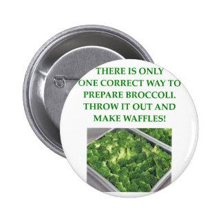 i hate broccoli 6 cm round badge
