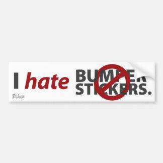 I Hate Bumper Stickers