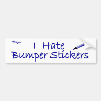 I Hate Bumper Stickers funny car decal
