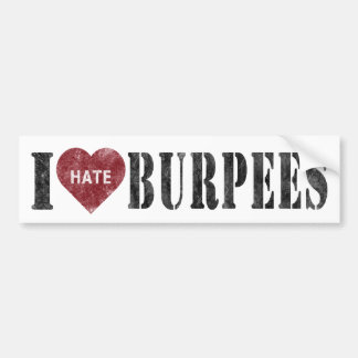 I hate burpees bumper sticker