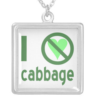 I Hate Cabbage Silver Plated Necklace
