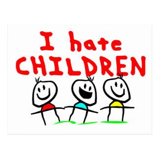 I hate children! postcard