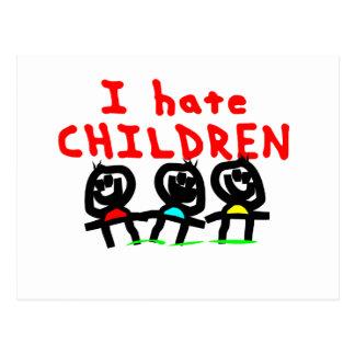 I hate children! post cards