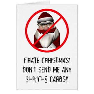 I Hate Christmas Card