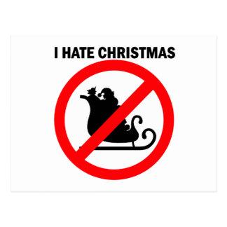 I hate Christmas Postcard