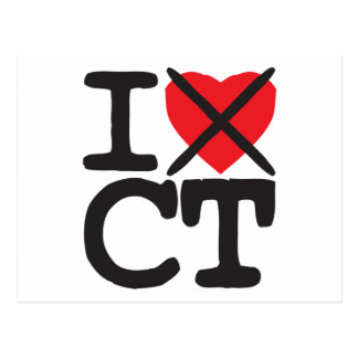 I Hate CT - Connecticut Postcard