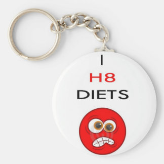 I hate diets basic round button key ring