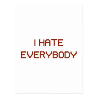 I Hate Everybody Postcard