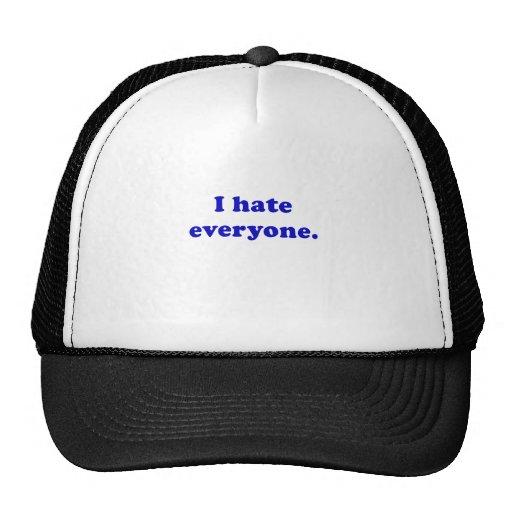 I Hate Everyone Trucker Hats