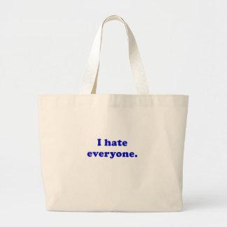 I Hate Everyone Tote Bag