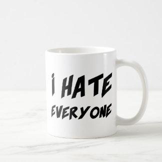 I Hate Everyone Basic White Mug