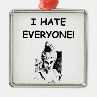 i hate everyone christmas ornaments
