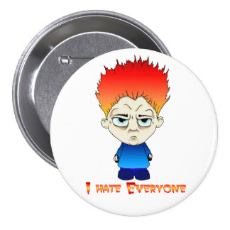 I Hate Everyone featuring Maxwell 7.5 Cm Round Badge