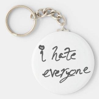 I Hate Everyone keychain