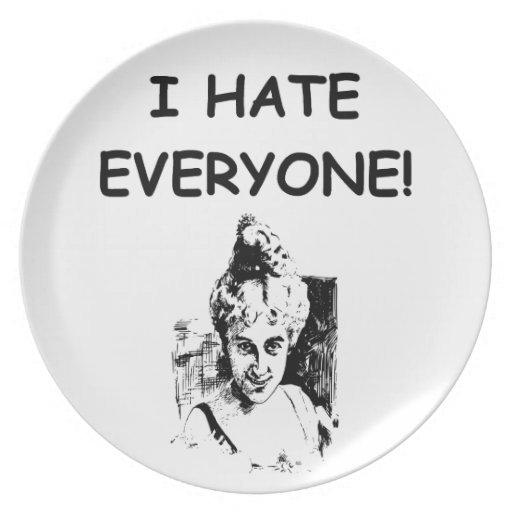 i hate everyone plates