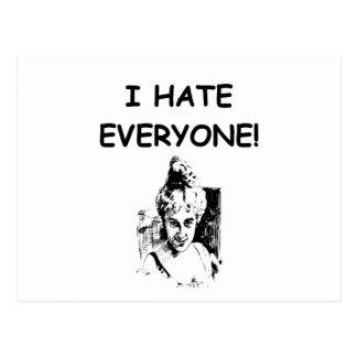 i hate everyone postcard