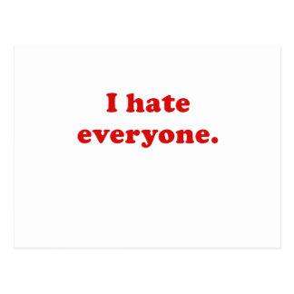 I Hate Everyone Post Card