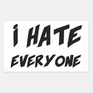 I Hate Everyone Rectangular Sticker
