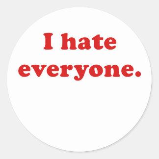I Hate Everyone Stickers