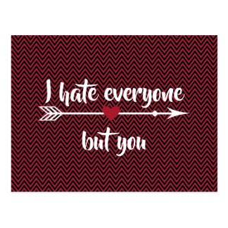 I Hate Everyone Valentine's Day Postcard