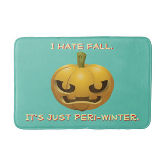 I Hate Fall--It's Just Peri-Winter Bath Mat