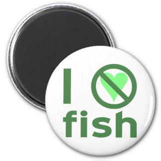 I Hate Fish 6 Cm Round Magnet