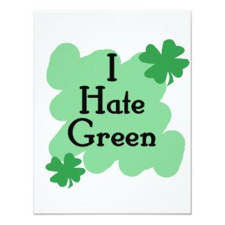 I hate green custom invitation