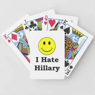 I Hate Hillary  happy smiley face Bicycle Playing Cards