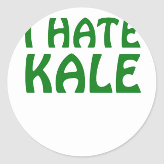 I Hate Kale Classic Round Sticker