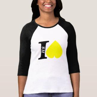 """I hate"" Ladies 3/4 Sleeve Raglan Fitted T-Shirt"